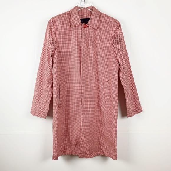 RALPH by Ralph Lauren Red Gingham Rain Coat Small
